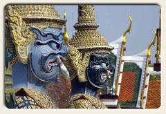 Titelbild Thailand, Wächterfiguren im Wat Phra Kheo, Bangkok