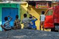 Bunte Straßenszene, Chennai
