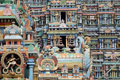 Detail, Meenakshi-Tempel, Madurai